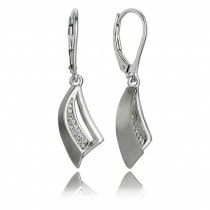Balia Ohrhänger für Damen glanz matt Zirkonia 925er Silber BAO0034SW