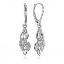 Balia Ohrhänger für Damen glanz matt Zirkonia 925er Silber BAO0036SW
