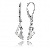 Balia Ohrhänger für Damen matt glanz Zirkonia aus 925 Silber BAO0038SW