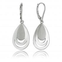 Balia Ohrhänger für Damen matt glanz aus 925 Sterling Silber BAO0039SP