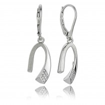 Balia Ohrhänger für Damen matt glanz Zirkonia aus 925 Silber BAO0040SW