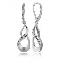 Balia Ohrhänger für Damen matt diamantiert aus 925er Silber BAO0041SO
