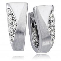 Balia Creolen für Damen glänzend Zirkonia aus 925er Silber BAO0044SW