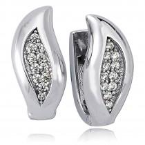Balia Creolen für Damen glänzend Zirkonia aus 925er Silber BAO0045SW