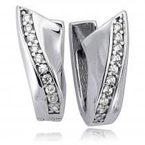 Balia Creolen für Damen glänzend Zirkonia aus 925er Silber BAO0047SW