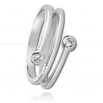 Balia Damen Ring aus 925 Silber mit Zirkonia Gr.54 BAR001W54