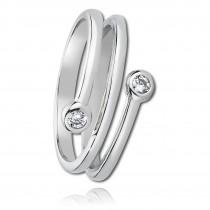 Balia Damen Ring aus 925 Silber mit Zirkonia Gr.58 BAR001W58