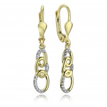 Balia Damen Ohrhänger aus 333 Gelbgold mit Zirkonia BGO0015GW