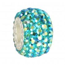 Carlo Biagi Swarovski Elements Bead Ring blau Zirkon BBSCR05BZ
