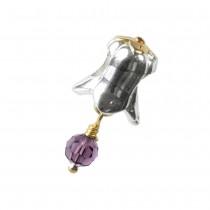 Carlo Biagi Dangle Bead Blume European Beads BDDS06PRTT