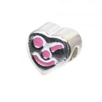 Carlo Biagi Kidz Bead Herz pink 925 Beads für Armband KBE019