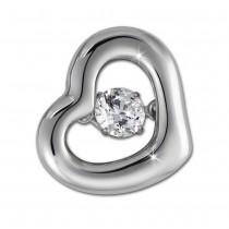 SilberDream Ketten Anhänger Herz Dancing Stone Zirkonia Silber DSH106W