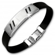 Amello Edelstahlarmband Line Herren Damen Unisex Armband ESA504S