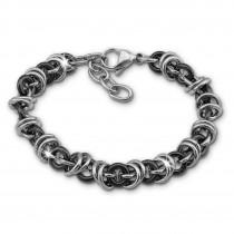 Amello Armband Keramik Ringe schwarz Damen Edelstahlschmuck ESAX39S8
