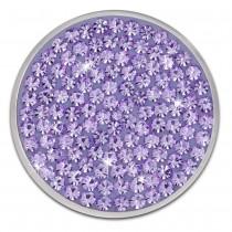 Amello Edelstahl Coin Zirkonia lila für Coinsfassung Edelstahlschmuck ESC301V