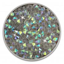 Amello Edelstahl Coin Zirkonia farbig für Coinsfassung Stahlschmuck ESC302W