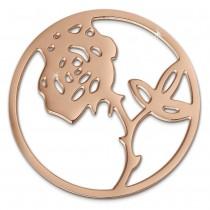 Amello Edelstahl Coin Rose rosegold für Coinsfassung Stahlschmuck ESC506E