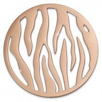 Amello Edelstahl Coin Muster rosegold für Coinsfassung Stahlschmuck ESC508E