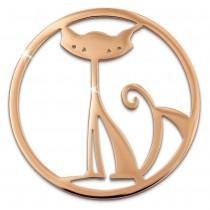 Amello Edelstahl Coin Katze rosegold für Coinsfassung Stahlschmuck ESC531E