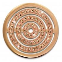 Amello Edelstahl Coin Kreise Zirkonia rose für Coinsfassung Schmuck ESC534EE