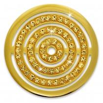 Amello Edelstahl Coin Kreise Zirkonia gold für Coinsfassung schmuck ESC534YY