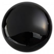 Amello Coin Edelstein Onyx 30mm schwarz für Coinsfassung Stahlschmuck ESC705S
