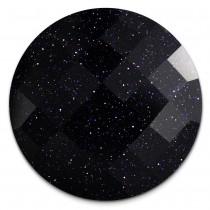 Amello Coin Acryl Glitzer dunkelblau für Coinsfassung Stahlschmuck ESC708B