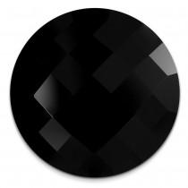 Amello Coin Acryl schwarz für Coinsfassung Edelstahlschmuck ESC708S
