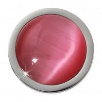 Amello Coin Cat Eye pink für Coinsfassung 25mm Edelstahlschmuck ESC741P