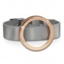 Amello Edelstahl Armband mit Coin Fassung 30mm rosevergoldet Schmuck ESCA07E