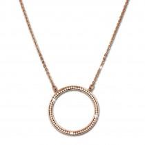 Amello Halskette rosevergoldet O-Kette Zirkonia Damen Edelstahlschmuck ESK101E
