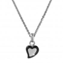 Amello Halskette Keramik Herz schwarz Damen Edelstahlschmuck ESKX33S5