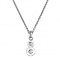 Amello Halskette Keramik Circle weiß Damen Edelstahlschmuck ESKX42W5