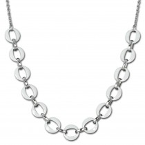 Amello Halskette Keramik Ringe weiß Damen Edelstahlschmuck ESKX47W5