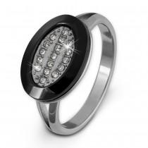 Amello Edelstahl Ring Keramik Zirkonia Gr.54 Edelstahlschmuck ESRX32S54
