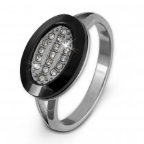 Amello Edelstahl Ring Keramik Zirkonia Gr.56 Edelstahlschmuck ESRX32S56