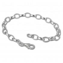 SilberDream 925 Silber Charm Bettelarmband Fußkette 25cm FC0110