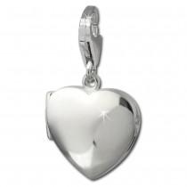 SilberDream 925 Charm Herz Medallion Armband Anhänger FC3006