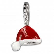 SilberDream Silber Charm Weihnachts Mütze Armband Anhänger FC3114