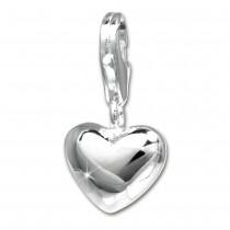 SilberDream 925 Silber Charm Herz glanz Armband Anhänger FC3144