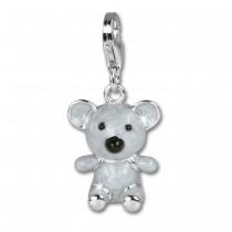 SilberDream 925 Charm Emaille Koala groß Armband Anhänger FC608