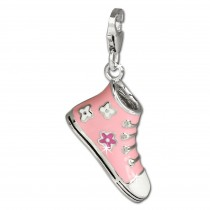 SilberDream Charm Schuh Sneaker rosa 925 Silber Armband Anhänger FC651