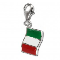 SilberDream 925 Charm Flagge Italien Armband Anhänger FC705