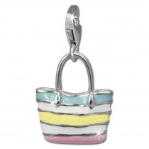 SilberDream Charm Strandtasche 925er Silber Armband Anhänger FC838F