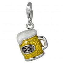 SilberDream Charm Bierkrug 925 Silber Armband Anhänger FC860Y