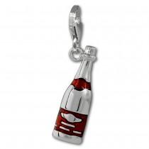 SilberDream Charm Sektflasche 925 Silber Armband Anhänger FC877R