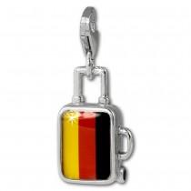 SilberDream Charm Koffer Deutschland 925er Armband Anhänger FC881F