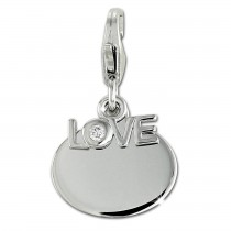 SilberDream Charm Love Zirkonia 925er Silber Armband Anhänger FC900W