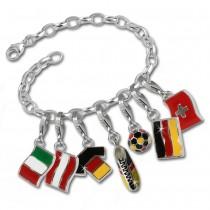 SilberDream 925 Silber Charm Fußball Armband Anhänger FCA021