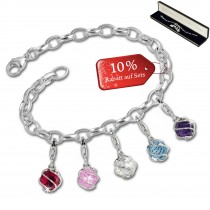 SilberDream Armband Charms Je taime Kugeln 925 Anhänger FCA322